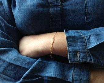 Gold Organic Twig Branch Bracelet