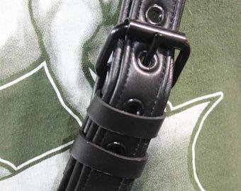 Back to Basics - Soft Black Leather Sam Browne Belt