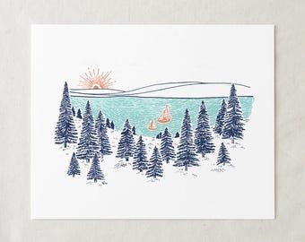 Lake Life - Art Print