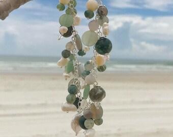 Charm bracelet -sea colors