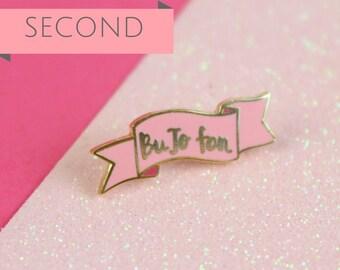 SECONDS BuJo Fan Enamel Pin, BuJo Planner lapel pin, Bullet Journalling Pin, Bullet Journal Banner Pin | Claireabellemakes