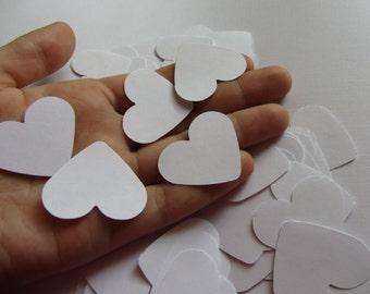 White table confetti wedding confetti  paper hearts wedding decorations  wedding table decorations  paper hearts decorations  die cut hearts
