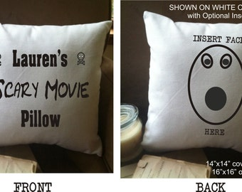 personalized scary movie throw pillow cover