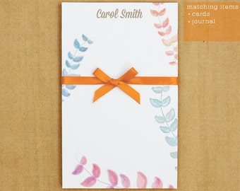 Personalized Stationary - Water Flower Notepad