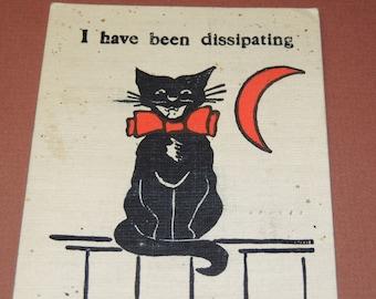 1907 Black Cat Post Card