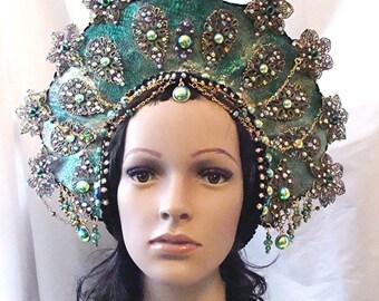 Made to Order Oceanna Sea Goddess Headpiece Halloween Mardi Gras Cosplay Drag Queen