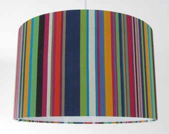 NEW Bold Deckchair Stripe Stripey Black Navy Lime Pink Lampshade Lightshade