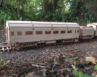 Passenger Car for wood Steam train wooden Carriage