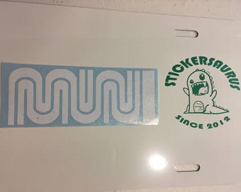San Francisco - Bay Area MUNI logo decal