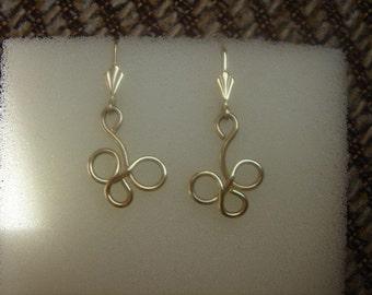 Fine earrings in gold 585 (14 K)! Heyday!