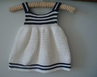 Crochet Pattern Girl's Dress, Girls Summer Dress, Sundress