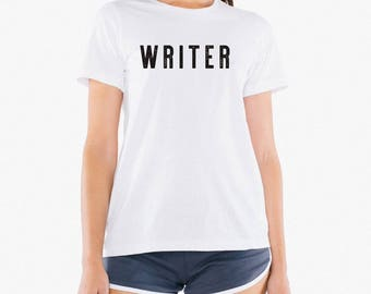 Writer Tshirt - Women. Book Writer Gifts. Bookworm Literary Writing Tee   Gift for Writers, Gift for Librarians, Book lovers,  Poets