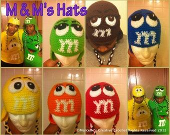 Crochet M Character beanie