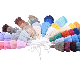 KONMAY 2pcs 4.8''(12.0cm) 5 Layers Craft Jewelry Layered Tassels with Hang Loop--11 different colors available