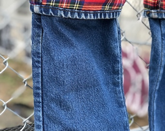 Vintage L.L. Bean Denim Jean with Plaid Lining