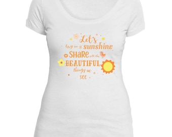 Let's Lay in the Sunshine Next Level Triblend Scoop Neck Tee