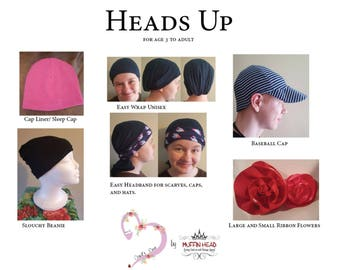 Easy Chemo or Hair Loss Caps Bundle of 5 Patterns