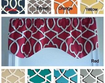 Kitchen window valance, any color, premier print fabric, lining window valance, rod pocket valance