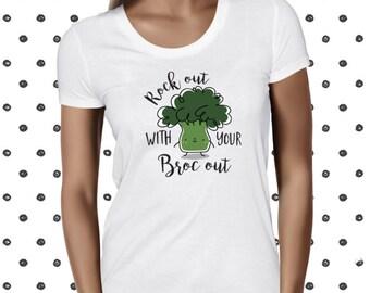 Broccoli Shirt Vegan Shirt Vegan Tshirt Vegetarian Shirt Vegan Clothing Vegan T-Shirt Vegan T Shirt Animal Rights Vegan Tee Vegetable Tee