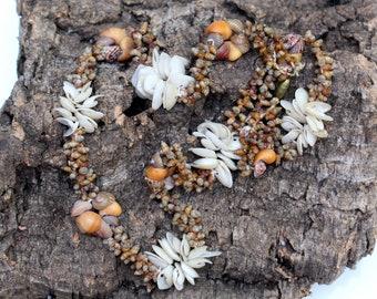 Vintage Shell Necklace-Bohemian-BOHO-Ibiza Style * FREE Shipping *
