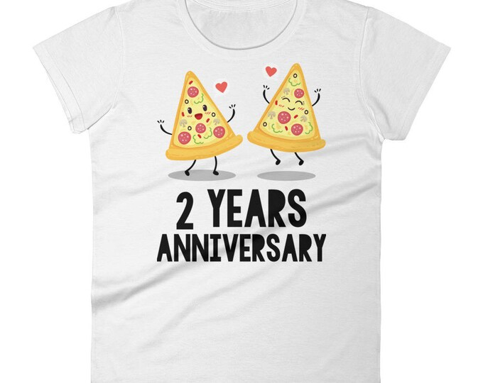 2nd Anniversary Women's t-shirt |  Years Anniversary Gift For Her | Anniversary, 2nd Anniversary Gifts | Funny 2nd Anniversary T-Shirt