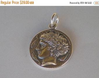 For Sale Artemis Silver Pendant - Syracuse Dekadrachm - Diana