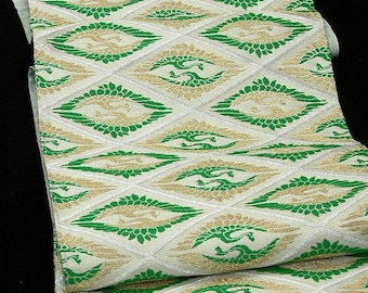 High quality / Japanese Kimono Obi / Vintage Silk Obi sash / Fukuro-Obi / 071008