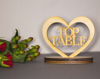 Wedding table numbers - Top table numbers - Top table numbers - table centrepieces