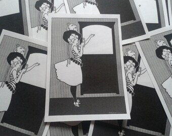 Gay '90s Girl Bookplates Lot of 10 Charles Austin Bates Illustration