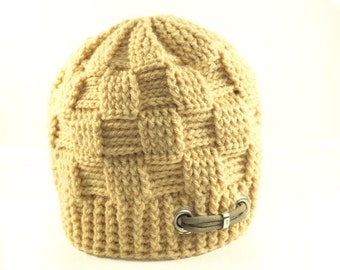 Beanie Crochet-cap with stainless steel handmade in Germany by Chaos Couture Vintage