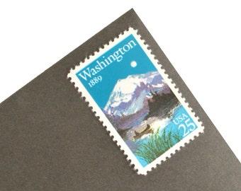 25 Washington Statehood Stamps - 25c - Mt. Rainier - 1989 - Unused Postage - Quantity of 25