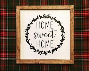 "Farmhouse ""Home Sweet Home"" Sign"