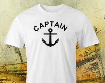 Captain & Ships anchor print t-shirt,Captain print,Captains printed t-shirt,Sailor print t-shirt,Ships Captain print t-shirt,Ships captain.