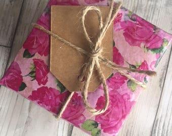 Gift box with natural handmade soap