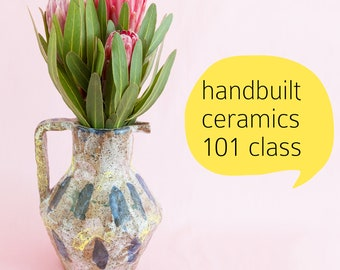 Saturday 2 June AND 16 June workshop: Handbuilt ceramics 101 1pm-3pm