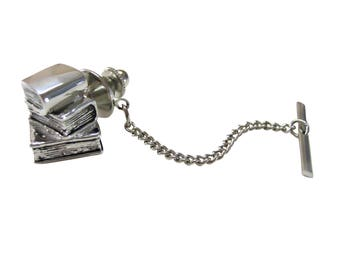 Stack of Books Tie Tack