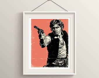 Star Wars Han Solo Poster Artwork