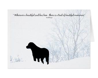 Black Lab Dog Sympathy Card 10BSTM - Pet Loss - Dog Condolence Cards - Dog Loss Card - Sympathy Quote - Sympathy Card - Condolence Card