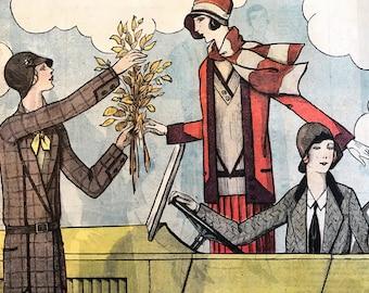 Le Petit Echo de la Mode October 20, 1929 Vintage Fashion Magazine France 1920's