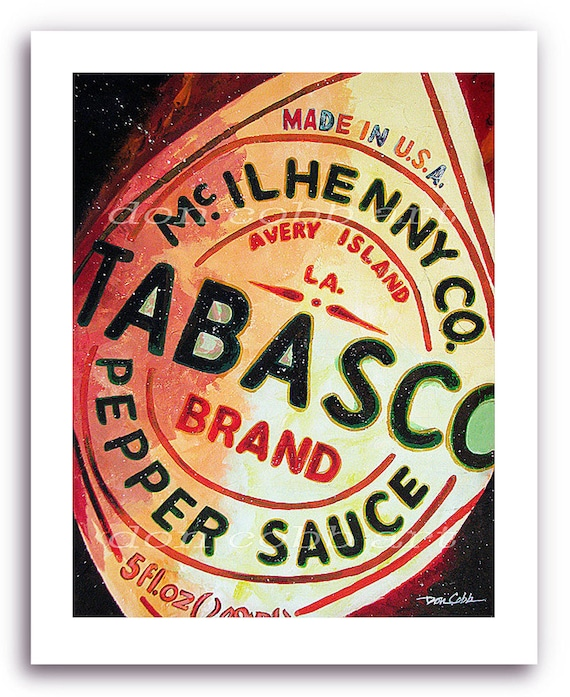 Tabasco Hot Sauce Art Prints Signed And Numbered