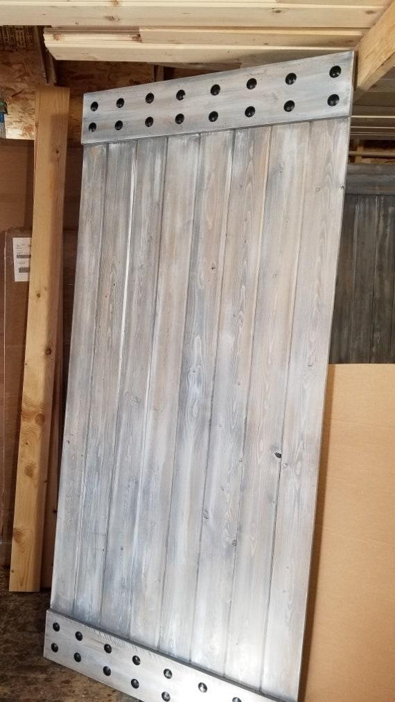 Vertical Plank Barn Door - Sliding Door - Barn Door with Hardware - Farmhouse Style Door - Rustic Interior Barn Door - Barn Door Package