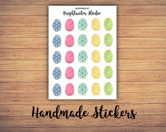 FREE SHIPPING! Watercolor Eggs bullet journal and planner STICKERS