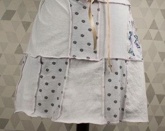 Up-cycled patchwork short Tee-skirt. UK seller. Ships worldwide