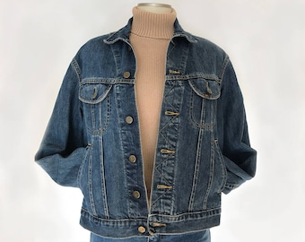 Vintage Lee / Lee denim trucker / 90s denim jacket M/ vintage denim trucker / vintage denim jacket / 90s clothing / Lee vintage