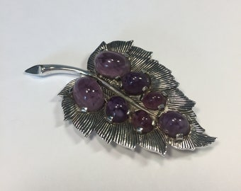 Vintage Boucher Numbered and Signed Amethyst Brooch