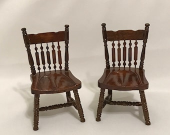 "Dollhouse Miniature  1"" scale set of Two Chairs"