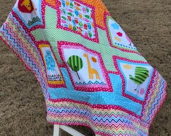 Bright Baby Quilt-Robert Kaufman Fabric