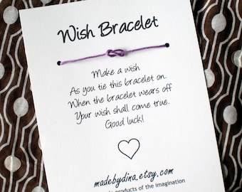 Forever Fun Infinity Knot Wish Bracelet Party Favor - Any Occasion - Custom Made for You