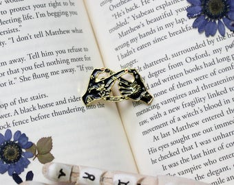 Witch-Infinity-Enamel Pin-Magic-Witchy Hands-Stars-Sign-BFF-Best Friend Gift-Lapel Pin-Badge-Flair-Friend Gift-Coven