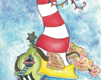 Lighthouse Art Print Poster (various sizes)